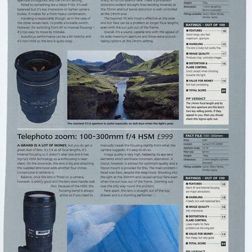 Practical Photo review Nov 2001