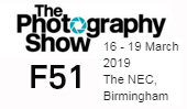 The Photography Show, 16-19th March 2019, Stand F51