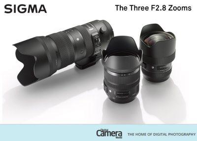 The winning prize; SIGMA F2.8 Pro Trio