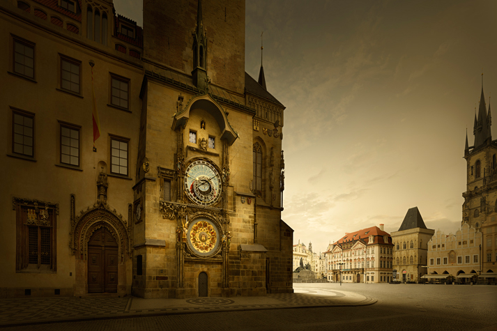 Astronomical Clock, Old Town Hall, Prague, Czech Republic, 30 images stitched