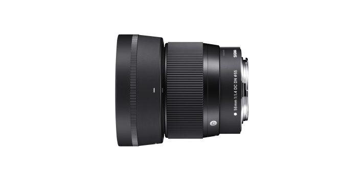 SIGMA 56mm F1.4 DC DN | Contemporary Lens Hood (LH582-01) supplied