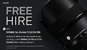 FREE Hire of the SIGMA 14-24mm F2.8 DG DN | Art lens