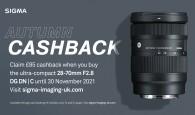 £85 cashback on the SIGMA 28-70mm F2.8 DG DN | C until 30 November 2021!